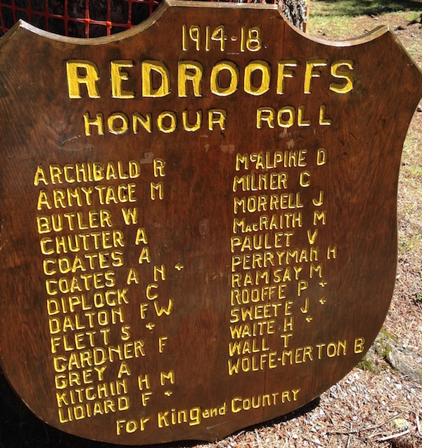 Redrooffs Honour Roll